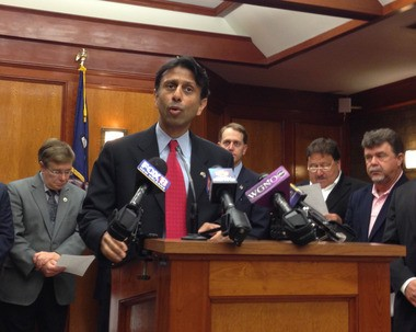 Gov. Bobby Jindal announces four barrier islands will be rebuilt and two fisheries laboratories will be established with $340 million from BP. The money comes from a $1 billion fund BP established for early Natural Resource Damage Assessment restoration projects under the federal Oil Pollution Act.