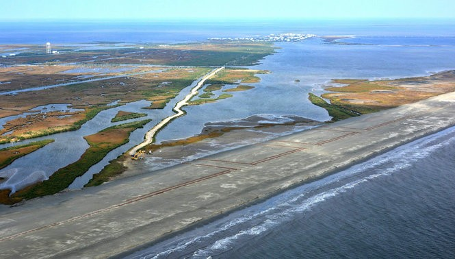 Elmer's Island Wildlife Refuge covers sandy beach and coastal marshland just west of Grand Isle in south Jefferson Parish. (Coastal Protection and Restoration Authority)