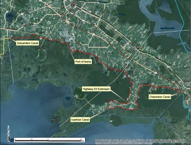 One alternative for proposed hurricane protection included in a 2015 study by Arcadis for the state Coastal Protection and Restoration Authority. (Coastal Protection and Restoration Authority)