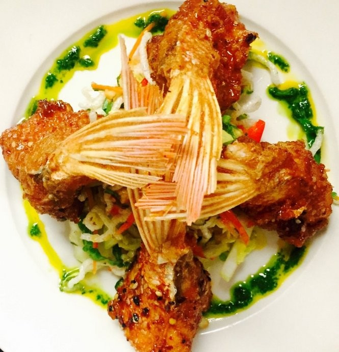 Red snapper 'fin wings' at GW Fins, 808 Bienville St. in the French Quarter. (Photo from GW Fins)