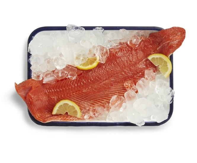 Wild-caught Alaskan sockeye salmon fillet. (Photo from Whole Foods)