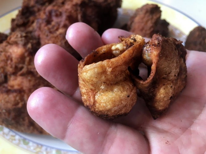 If you skin the chicken before frying, you can discard the skins or fry them up to make chicken skin cracklins. (Photo by Ann Maloney, NOLA.com | The Times-Picayune)