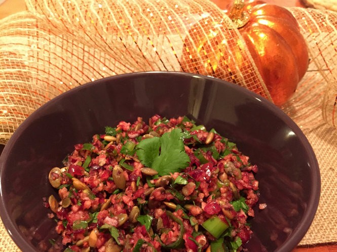 Hatch Chile Cranberry Salsa pairs well with corn chips or served atop poultry or fish. (Photo by Alyse Bagley)