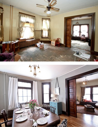 The value of an historic home is largely in its historic features. Remove or cover those up and you destroy the value of the home. Photos courtesy of Nicole Curtis