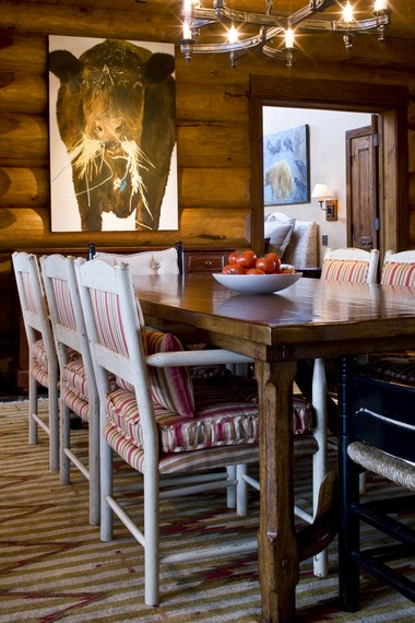 'A mountain west home doesn't have to be all spurs and fringe and cowboy hats,' said Wyoming designer Jennifer Visosky, who created this Jackson Hole home. But it should reflect where it is.