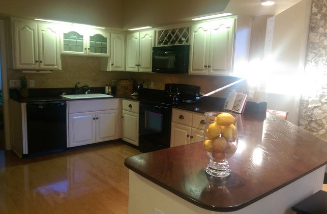BEFORE THE RENOVATION: This outdated kitchen was ready for a major facelift.