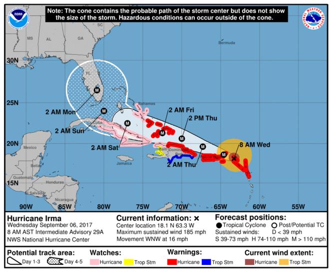 Hurricane Irma Pounding Anguilla On Way Toward Florida Nola Com