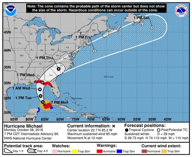 On Path To Florida Panhandle Hurricane Michael Strengthens Nola Com