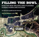 Click to view the animated, interactive graphic of Katrina's flooding