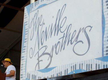 One sign you won't see at the 2013 New Orleans Jazz Fest: The Neville Brothers. Art, Charles and Cyril will perform together as The Nevilles on the fest's first Sunday.