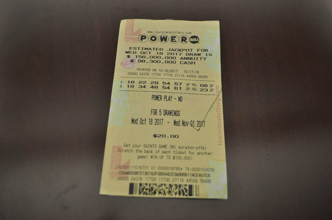 This image from Louisiana Lottery displays the winning ticket in the Oct. 25 drawing of the Powerball.