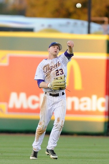 LSU left fielder Jake Fraley knows the standard for playing defense in the Tigers' outfield has been setting exceptionally high the last several years.