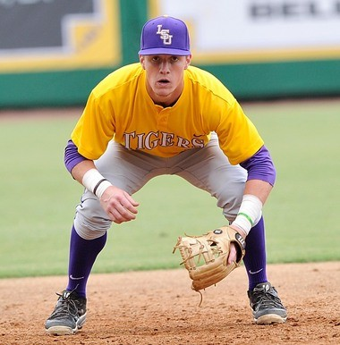 LSU freshman Greg Deichmann is battling for the starting third base job against sophomore Danny Zardon.