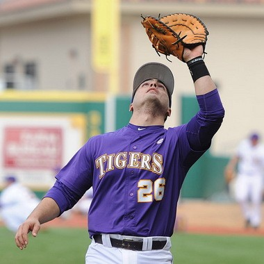 LSU junior Chris Chinea has been primarily a catcher in his first two seasons, but has worked ardently to sharpen his skills at first base.