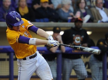 LSU sophomore Danny Zardon could be a run-producer for the Tigers this season.