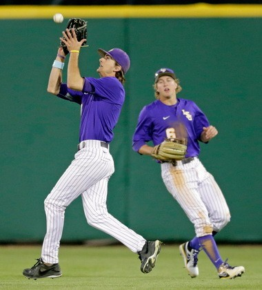 LSU outfielders Mark Laird (left) and Andrew Stevenson give the Tigers two of the fastest and best derensive players in the country.