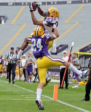 Sophomore cornerback Ed Paris hopes to make plays for the LSU secondary this fall.