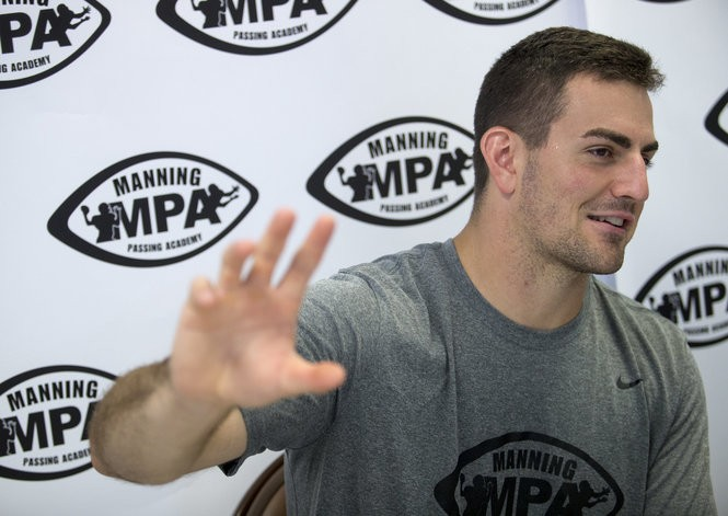Purdue quarterback David Blough talks with members of the media during the Manning Passing Academy at Nicholls State University in Thibodaux on Friday, June 22, 2018. (Photo by Brett Duke, Nola.com   The Times-Picayune)
