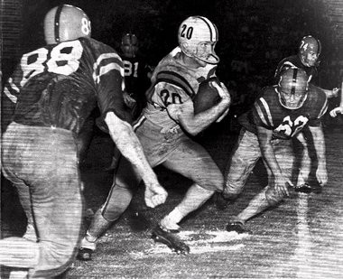 Billy Cannon during his historic Halloween run.