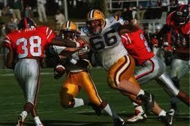 Alan Faneca (66) was an All American as a junior at LSU and started all 36 games in his three-year career.