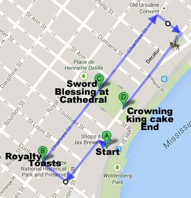 The Joan of Arc parade 2018 route