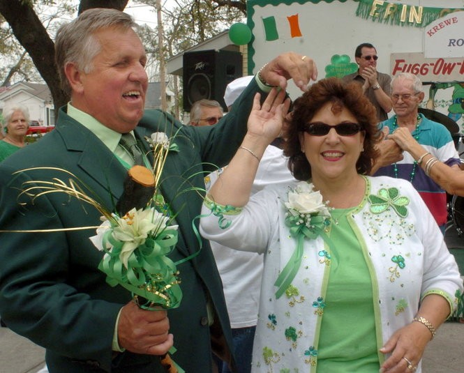 Mac Cantrell Jr. dances with his wife, Kathy, at the St. Patrick's shillelagh presentation celebration on March 10, 2006, at Fulco's bar in Metairie. Cantrell is starting a new Mardi Gras season parade group, the Krewe of Kings, for 2019. (Photo by Donald Stout, The Times-Picayune archive)