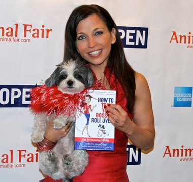 Author and animal activist Wendy Diamond, who served as grand marshal of the Barkus parade in 2010, returned to New Orleans on Friday, Oct. 11, 2013 for the 'Bark Business Tour.' The event at the Loews Hotel drew celebrities, such New Orleans Saints coach Sean Payton. Diamond dedicated her new book, 'How to Train Your Boss to Roll Over,' to veterans. (Photos from AnimalFair.com)