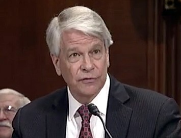New Orleans lawyer Barry Ashe addresses the U.S. Senate Judiciary Committee on Capitol Hill in Washington on Jan. 10, 2018. (Image from Judiciary Committee video)