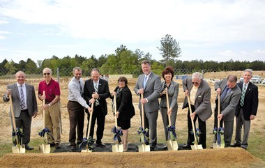 Northshore Technical Community College officials and others break ground on a $4.2 million Advanced Technology Center that will house the college's HVAC, welding and health sciences programs on Friday, April 6, 2018. The 19,000 square-foot facility is slated to be completed by the summer of 2019.