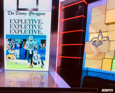 """ESPN delivered The Times-Picayune's Jan. 15, 2018 front page to millions of """"SportsCenter"""" viewers on Monday."""