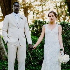 Jrue and Lauren Holiday met in college and were married in July 2013, the same month Jrue was traded from the Philadelphia 76ers to the New Orleans Pelicans.