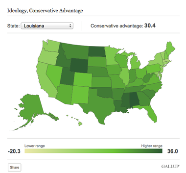 Gallup Louisiana One Of Top 10 Conservative States Nola Com
