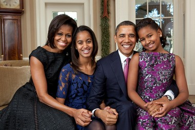 Michelle Obama and family (White House photo)