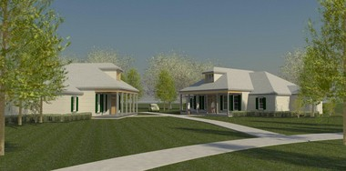 Artist's rendering of the $11 million Milne Home community in Waldheim north of Covington. A groundbreaking ceremony was held Thursday. The community will be home to dozens of adults with developmental disabilities. The project, funded in part by FEMA, is managed by the Sulzer Group with Broadmoor Design Group as the architect and Voelkel McWilliams the general contractor.