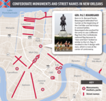 Explore our interactive map of Confederate monuments and street names