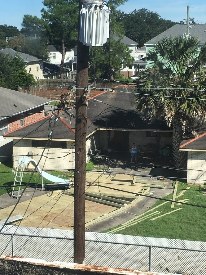 According to CIty Councilman Joe Giarrusso's office, the blighted pool at 5700 Vicksburg St. was drained and covered in plywood as of Friday, Oct. 12, 2018.