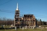 The All Saints Anglican Church during deconstruction. The Nova Scotia church was carefully taken apart, stored for several years, and recently trucked to Abita Springs, where another church congregation will put it back together in time for Easter, 2014, services.