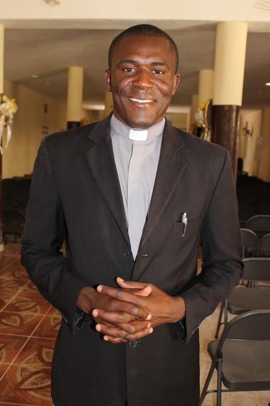 Fritznel Mertyl, the young seminarian serving at St. Benoit Parish in Haiti