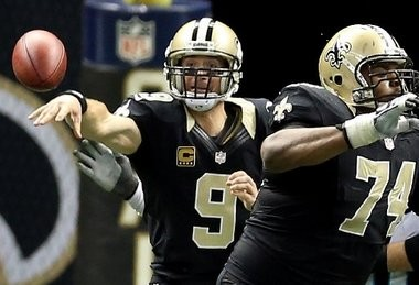 New Orleans Saints quarterback Drew Brees.
