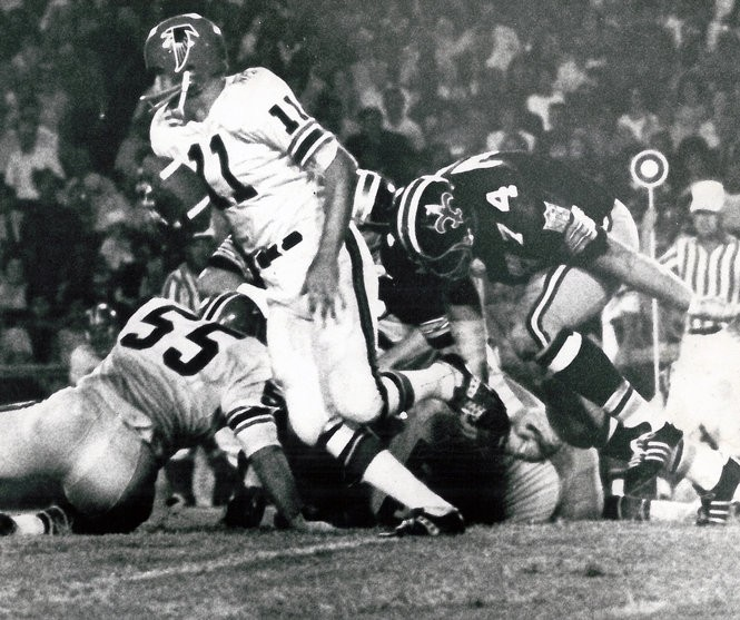 Saints owner John Mecom Jr. experimented with a black helmet during the 1969 preseason but failed to give the NFL enough notice to use them during the regular season.
