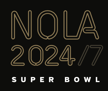 The slogan 'NOLA 2024/7 Super Bowl' will be the theme of New Orleans' proposal Wednesday to the NFL's team owners to land Super Bowl 2024.