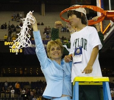 Tickfaw native Kim Mulkey has won two national championships as the Baylor coach and her fiery style is something her son Kramer, age 10 in this 2005 picture, has embraced in his time with Paul Mainieri.