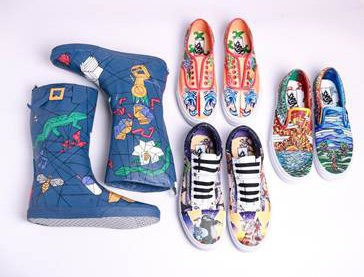 d7d2202354 Students in Fontainebleau High School s talented arts program turned four  pairs of Vans shoes into works