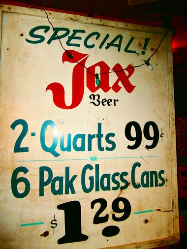 Old signs for New Orleans favorites - such as this vintage Jax sign - are nostalgic for local visitors. (Photo by Kara Martinez Bachman)