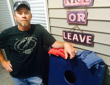 James 'Jimbo' Hall, 42, of Abita Springs, has been hooked on Cornhole ever since he played the game during a visit to his hometown in Robbins, N.C.