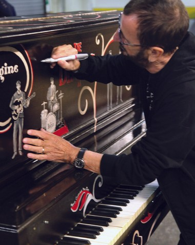 Starr signed the piano while in Biloxi for a performance. Kim Bergeron for