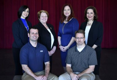Management staff at the Northshore Harbor Center, pictured left to right: Tricia Collins, Events and Marketing Manager; Eileen Sementilli, Events Manager; Kathy Lowrey, General Manager; Laura Suhm, Sales Manager; Matt Rowe, Building Services Manager; Art Baudoin, Director of Operations.