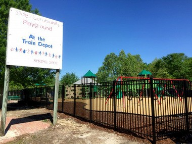 Slidell cuts the ribbon on Heritage Park playground on