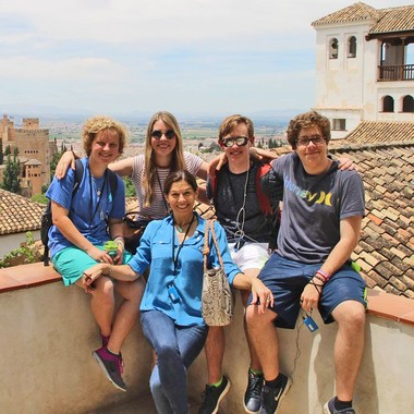 Christ Episcopal students Lilly Mast, Martha Croxton, Alexander Preau and Davis Levine with CES Spanish teacher Dawn Cox in Malaga, Spain on a class trip. (Submitted by Ashley Gilly)