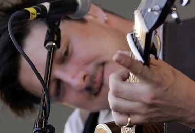 Marcus Mumford performs with Mumford and Sons at the New Orleans Jazz and Heritage Festival in 2011.